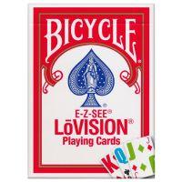 Bicycle E-Z-SEE LōVision Spielkarten rot