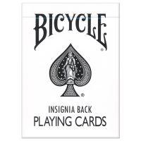 Bicycle Insignia Back Spielkarten weiß