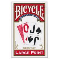 Bicycle Großdruck Spielkarten rot