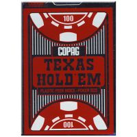 COPAG Spielkarten Texas Hold'em Plastik Peek Index rot