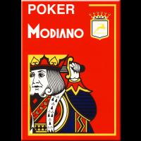 Modiano Karten Poker Cristallo 4 Eckzeichen rot