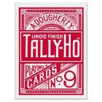 Tally-Ho Fan Back Spielkarten rot