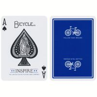 Bicycle Inspire Spielkarten blau