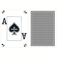 COPAG Spielkarten Texas Hold'em Plastic Peek Index blau