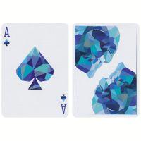 Memento Mori blaue Spielkarten
