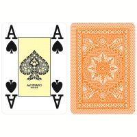 Modiano Karten Poker Cristallo 4 Eckzeichen orange